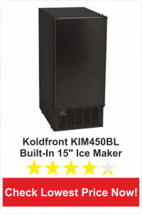 Koldfront KIM450BL Built-In 15-Inch-Wide Clear Ice Maker