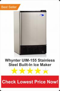whyter UIM-155 stainless steel builtin ice maker-best undercounter ice maker