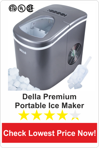 Della Premium Portable Ice Maker for Counter-Top