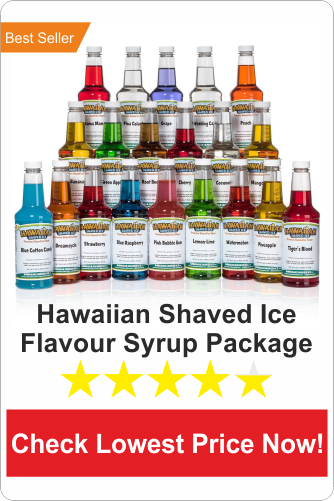 Hawaiian Shaved Ice flavour syrup package