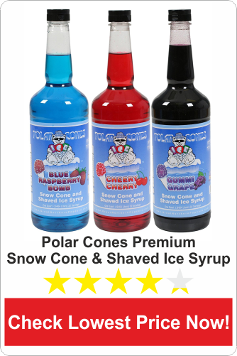 Polar Cones Premium Snow Cone & Shaved Ice Syrup