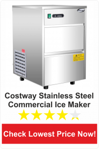 Costway Stainless Steel Commercial Automatic Ice Maker