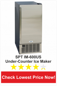 SPT IM-600US Stainless Steel Under-Counter Ice Maker, 50-Pound