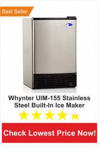 whyter UIM-155 stainless steel builtin ice maker-best undercounter ice maker