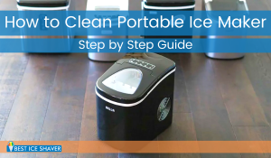 how to clean portable ice maker machine